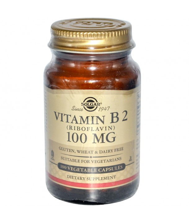 SOLGAR VITAMIN B2 100mg 100CAPS