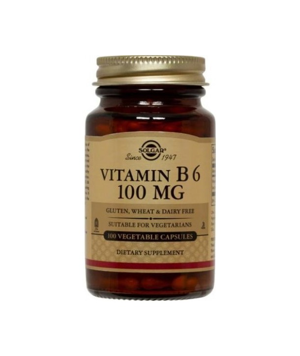 SOLGAR VITAMIN B6 100mg 100CAPS