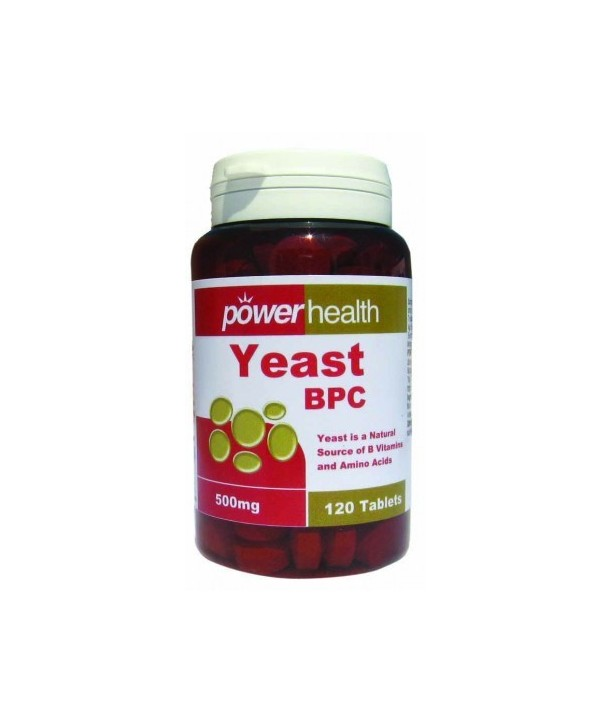 POWER HEALTH YEAST BPC 500mg 120 TABS