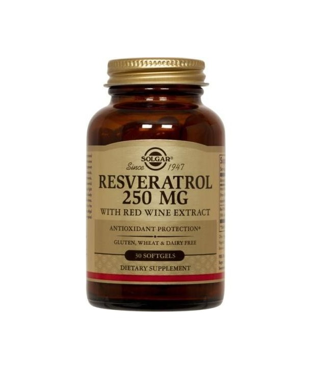 SOLGAR RESVERATROL 250mg 30SOFTGELS