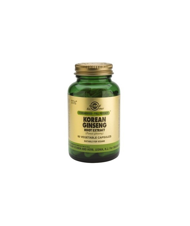 SOLGAR KOREAN GINSENG ROOT EXTRACT 60 VEG.CAPS