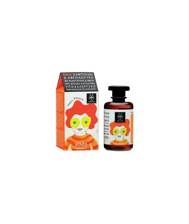 APIVITA KIDS SHAMPOO & SHOWER GEL MANDARIN&HONEY 250ml