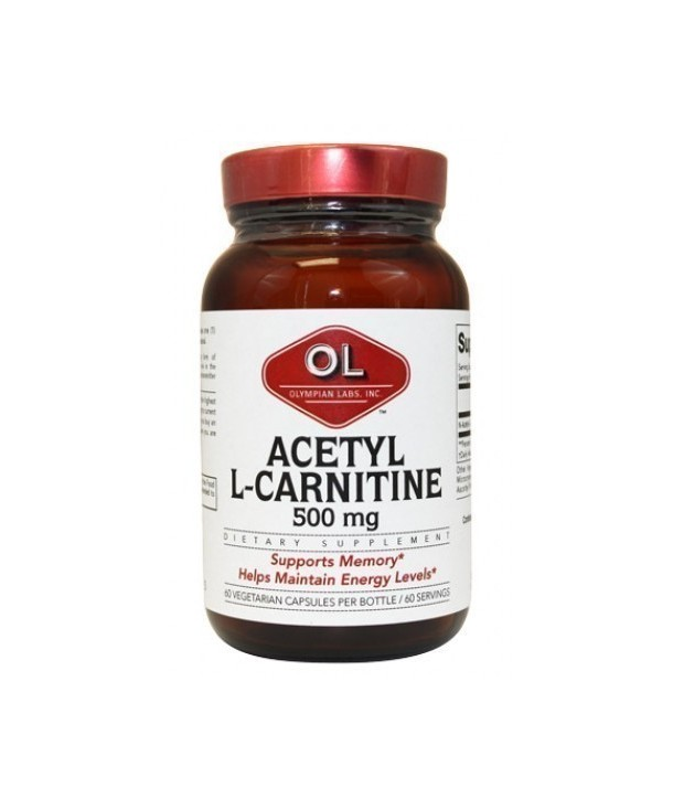 OLYMPIAN LABS ACETYL L-CARNITINE 500mg 60 CAPS