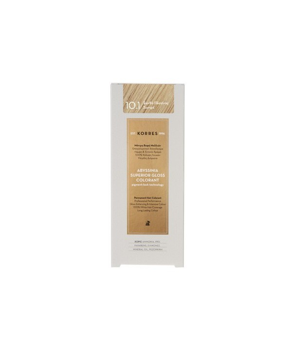 KORRES ABYSSINIA SUPERIOR GLOSS COLORANT 10.1 BLONDE PLATINA SANTRE