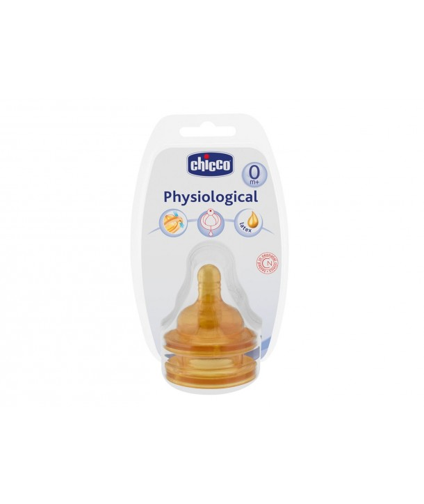 CHICCO NIPPLE RUBBER NORMAL FLOW 0+