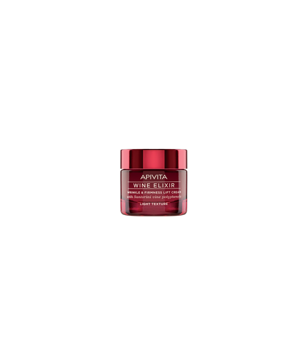 APIVITA WINE ELIXIR WRINKLE & FIRMNESS LIFT CREAM LIGHT TEXTURE 50ml