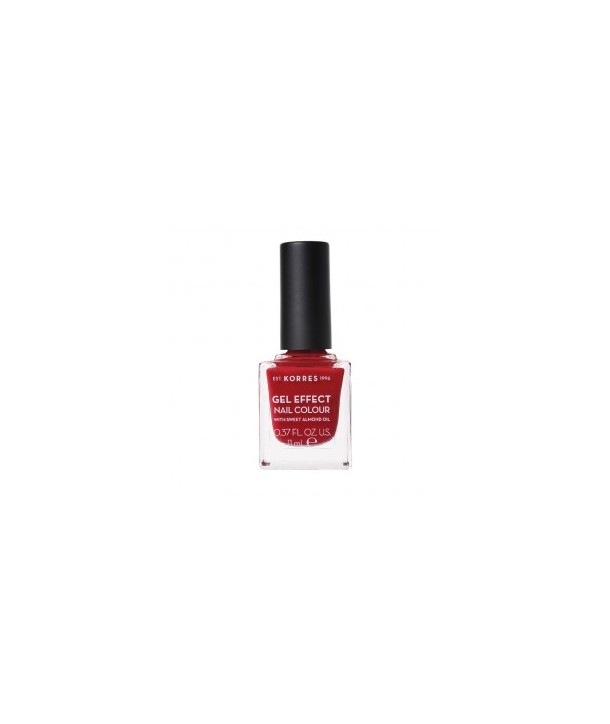 KORRES GEL EFFECT NAIL COLOUR 56 CELEBRATION RED 11ml
