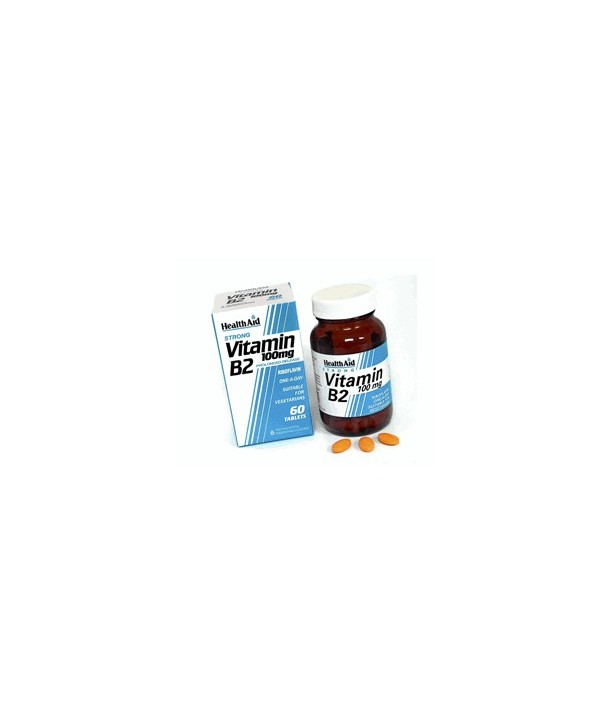 HEALTH AID VITAMIN B2 100mg 60 VETABS