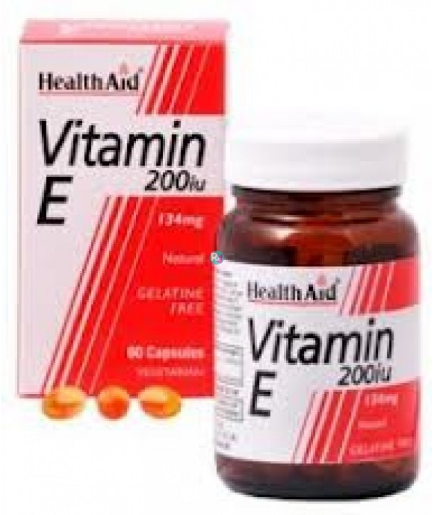 HEALTH AID VITAMIN E 200iu 60 VECAPS