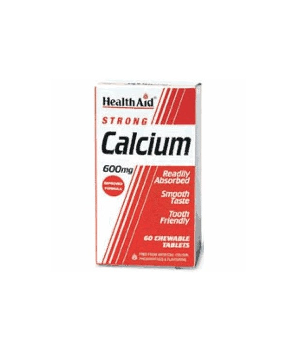 HEALTH AID CALCIUM 600mg 60 CHEWABLE TABS