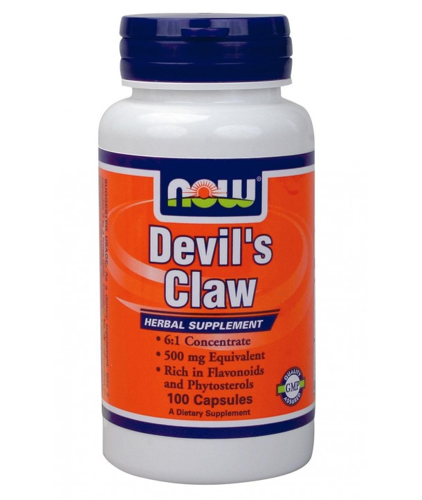NOW FOODS DEVIL'S CLAW 500mg 100 CAPS