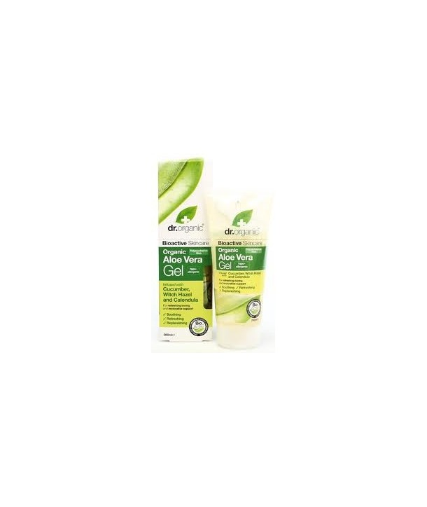 DR.ORGANIC ALOE VERA GEL WITH CUCUMBER.WITCH HAZEL & CALENDULA 2