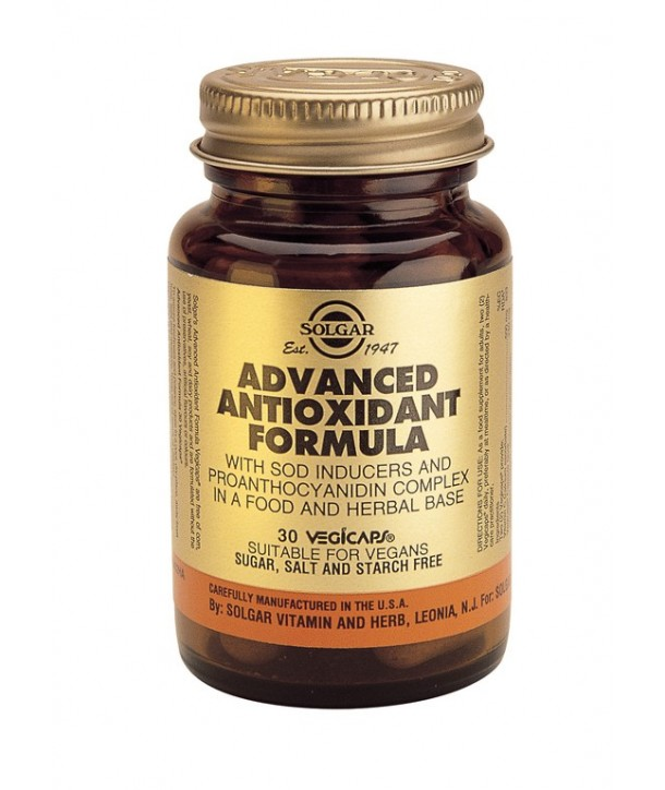 SOLGAR ADVANCED ANTIOXIDANT FORMULA 30 CAPS